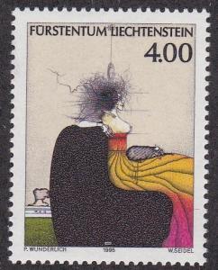 Liechtenstein # 1063, Painting by Paul Wunderlich, NH, 1/2 Cat.