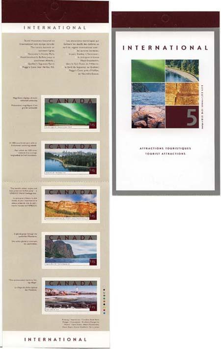 Canada - 2002 $1.25 Tourist Attractions Booklet #BK260b
