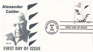 1998, Honoring Alexander Calder, Hobby Link, FDC (E11818)