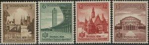 Stamp Germany Mi 665-8 Sc 486-9 War Fascism Gymnastics Sports Breslau MNG