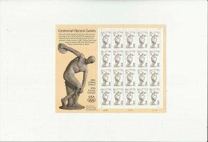 US Stamps/Postage/Sheets Sc #3087 Olympics Centennial MNH F-VF OG FV $6.40