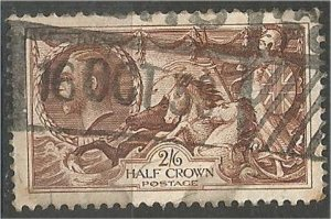 GREAT BRITAIN , 1934, used 2sh6p, Britannia Scott 222