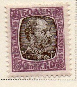 Iceland Sc O19 1902 50 aur  Christian IX official stamp mint
