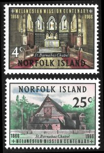[8118]   Norfolk Island # 97 - 98 Mint Never Hinged