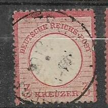 Germany Sc. #23 / Mi. # 25 3 Kreuzer Used L12