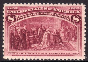 1893 U.S Columbian Exposition 8¢ issue MNH Sc# 236 CV $140.00