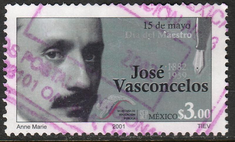 MEXICO 2226, Teachers Day - Jose Vasconcelos, Writer. USED. F-VF. (1496)