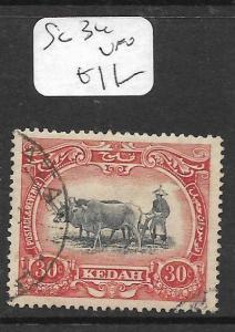 MALAYA KEDAH (P1105B) COW  30C  SG 34      VFU