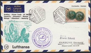 SPAIN 1968 Lufthansa first flight cover to Germany.........................H279