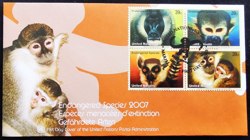 United Nations Endangered Species 2007 First Day Cover (A)