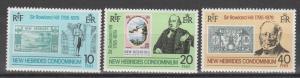 New Hebrides (Br) #265-7  MNH F-VF (SU466)