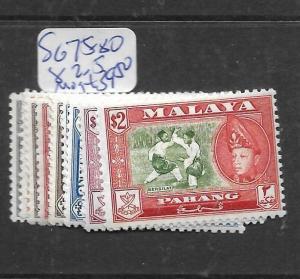 MALAYA PAHANG (P2303B) SG 75-80, 82-5  MOG