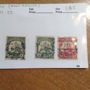 German East Africa  # 12/32-33  Used