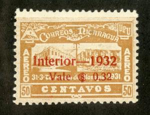 NICARAGUA C45 MH SCV $9.50 BIN $3.75 BUILDINGS