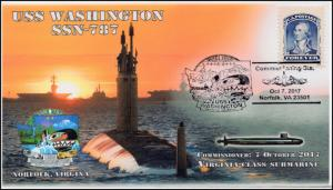 17-347, 2017, USS Washington, SSN-787 Pictorial, Norfolk VA, Event Cover