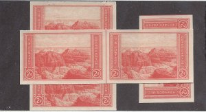 757 Mint,NGAI,NH... Single,Vertical Line Pair, Horizontal Line Pair... SCV $1.50