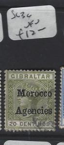 MOROCCO AGENCIES (P2305B) 20C  SG  3C  VFU