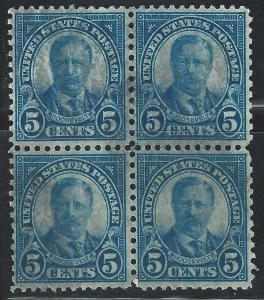US #637 5c T Roosevelt