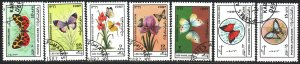 Afghanistan. 1987. 1546-52. Butterflies, fauna. USED.