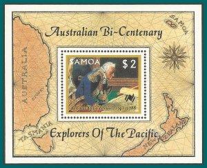 Samoa 1987 Australian Bicentenary I, MS MNH 704a,SGMS762