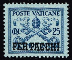 ITALY VATICAN CITY STAMP #Q4 PARCEL POST 1931 Overprinted PER PACCHI MNH/OG