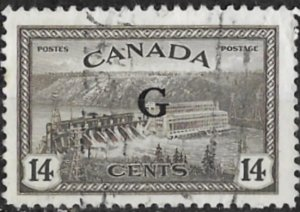 Canada # O22  G  Official Overprint   14c   (1) VF Used