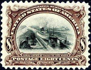 #298 – 1901 8¢ Pan-American Exposition. Unused OG H. CF/XF