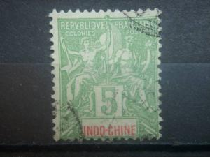 INDO-CHINA, 1892, used 5c, French Offices  Scott 6