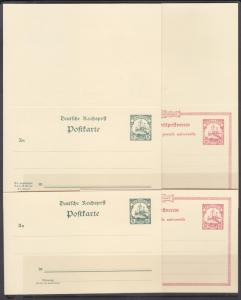 Mariana Islands Mi P7-P10 mint 1900 Postal & Postal Reply Double Cards, cplt