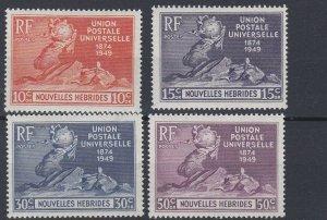 NEW  HEBRIDIES    1949  UPU SET OF 4  MH   NO2