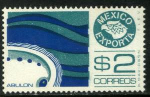 MEXICO EXPORTA 1117a, $2P, ABALONE. PAPER 1, MNH