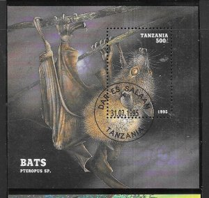 Tanzania  #1403   Bats Souvenir Sheet   (U) CV$5.75