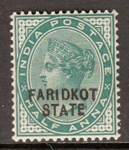 India (Faridkot) - Scott #4 - MH - SCV $3.75