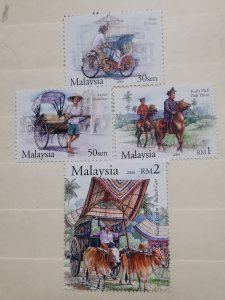 MALAYSIA 2004 TRADITIONAL TRANSPORT OF MALAYSIA   IN MINT CONDITION