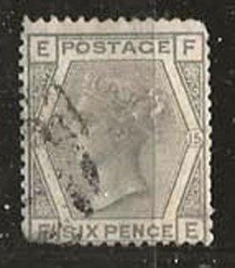 Great Britain 62 [pl15] [u] CV $75.00