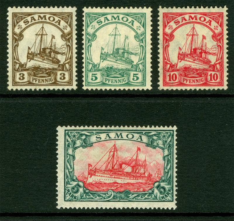 German Colonies - SAMOA 1915  Kaiser's YACHT set  Sc# 70-73  mint MNH**