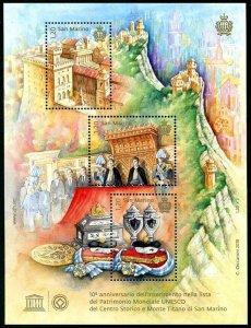 HERRICKSTAMP NEW ISSUES SAN MARINO Mount Titano, UNESCO World Heritage Site