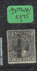 MALAYA JAPANESE OCCUPATION PERAK (P1508B) 1C KANJI SG J270  VFU