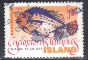 ICELAND   SC# 856 **USED** 5k 1998  FISH  SEE SCAN