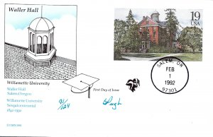 Pugh Designed/Painted Waller Hall FDC...91 of 124 created!