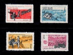 Vietnam 1964 MNH Stamps Scott 303-306 Dien Bien Phu Battle