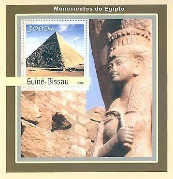 Guinea-Bissau - Monuments of Egypt  Stamp SS GB3124