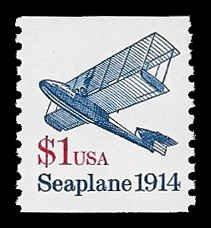 PCBstamps     US #2468b $1.00 Seaplane, coil, MNH, (1)