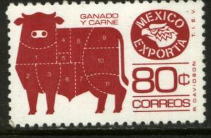 MEXICO Exporta 1168, 80c Cattle P 11 Wmkd Fosfo Paper 2. MINT, NH. VF.