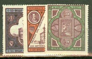 BD: San Marino 29-31 mint CV $87.50