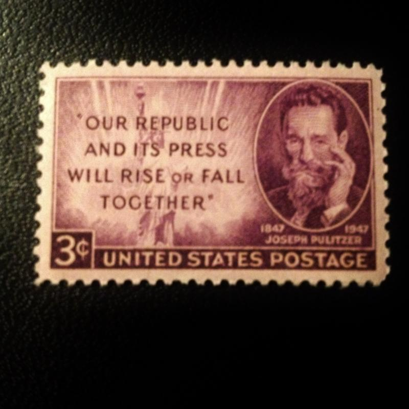 US Scott #946 Joseph Pulitzer, MINT, VF, NH, OG  SCV $0.25