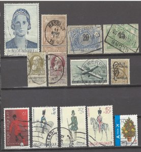 COLLECTION LOT # 3076 BELGIUM 13 STAMPS 1895+ CV+$17