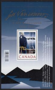 Canada 2007 MNH Sc #2219a Souvenir sheet $1.55 Captain George Vancouver