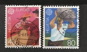 Switzerland 1981 #699-700, Used, CV $1.35