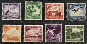 STAMP STATION PERTH  Nauru #39-47 Pictorial Definitive Short Set MNH CV$17.00